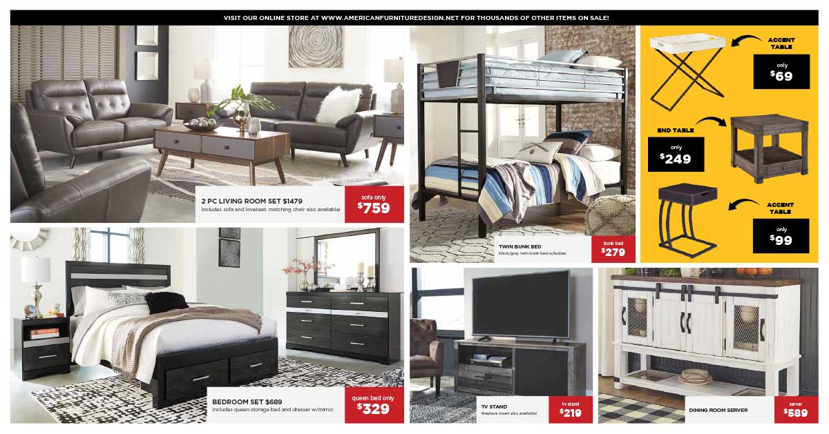 American Furniture Design Warehouse Clearance